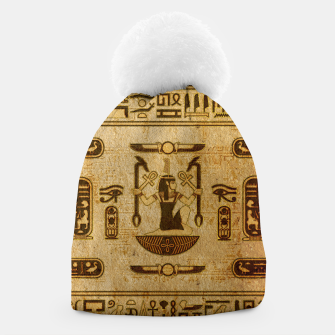 Thumbnail image of Vintage Egyptian Ornament  Beanie, Live Heroes
