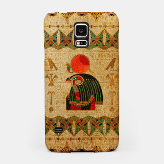 Thumbnail image of Egyptian Horus Ornament on Papyrus Samsung Case, Live Heroes