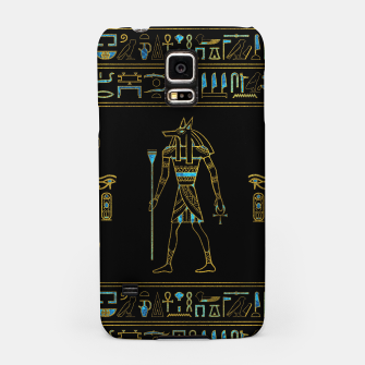 Thumbnail image of Anubis Egyptian  Gold and blue stained glass Samsung Case, Live Heroes