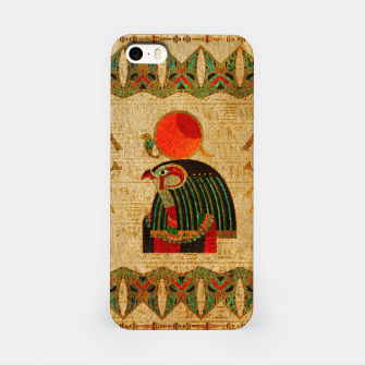 Thumbnail image of Egyptian Horus Ornament on Papyrus iPhone Case, Live Heroes