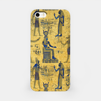 Thumbnail image of Vintage Egyptian Ornament with Lapiz Lazuli iPhone Case, Live Heroes