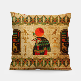 Thumbnail image of Egyptian Horus Ornament on Papyrus Pillow, Live Heroes