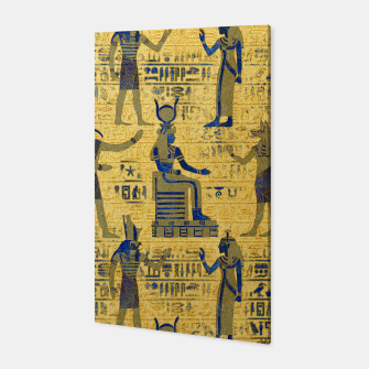 Thumbnail image of Vintage Egyptian Ornament with Lapiz Lazuli Canvas, Live Heroes