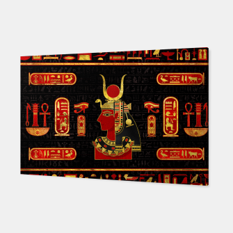 Miniatur Hathor Egyptian Ornament Gold and Red glass Canvas, Live Heroes