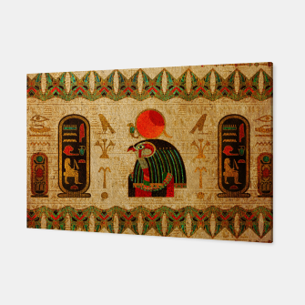 Thumbnail image of Egyptian Horus Ornament on Papyrus Canvas, Live Heroes