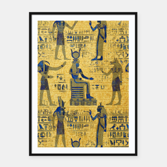 Thumbnail image of Vintage Egyptian Ornament with Lapiz Lazuli Framed poster, Live Heroes