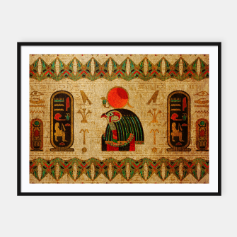 Thumbnail image of Egyptian Horus Ornament on Papyrus Framed poster, Live Heroes