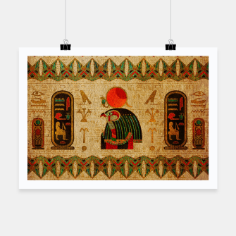 Thumbnail image of Egyptian Horus Ornament on Papyrus Poster, Live Heroes
