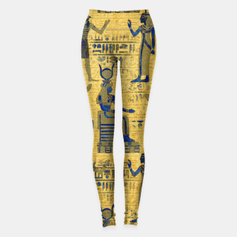 Thumbnail image of Vintage Egyptian Ornament with Lapiz Lazuli Leggings, Live Heroes