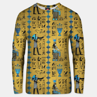 Thumbnail image of Egyptian  Ornament Symbols Pattern Cotton sweater, Live Heroes