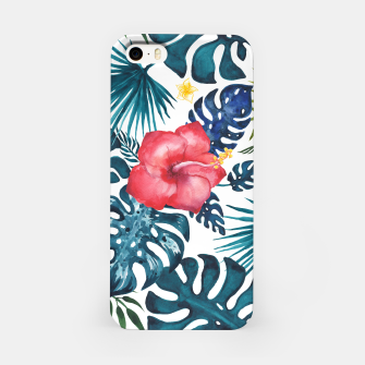 Miniatur Tropics. Exotic Tropical flowers, Watercolor  illustration iPhone Case, Live Heroes