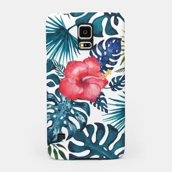 Miniatur Tropics. Exotic Tropical flowers, Watercolor  illustration Samsung Case, Live Heroes