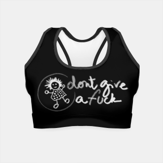 "Miniaturka ""Don't give a fuck - Little babe doodle 02"" Crop Top, Live Heroes"