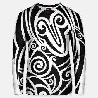 Thumbnail image of Surf board. Illustration in the Polynesian style tattoo Cotton sweater, Live Heroes