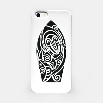 Miniaturka Surf board. Illustration in the Polynesian style tattoo iPhone Case, Live Heroes