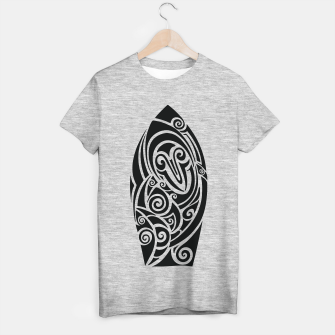 Thumbnail image of Surf board. Illustration in the Polynesian style tattoo T-shirt regular, Live Heroes