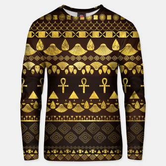 Thumbnail image of Egyptian Ethnic Pattern gold on rich browns Cotton sweater, Live Heroes