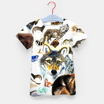 Imagen en miniatura de Animal Pattern on Watercolor Camiseta para niños, Live Heroes