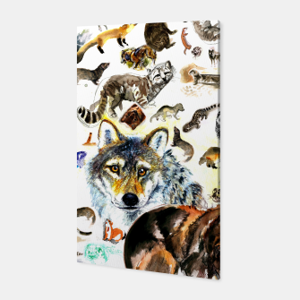 Miniatur Animal Pattern on Watercolor Canvas, Live Heroes