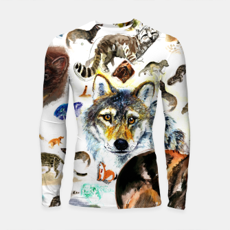 Imagen en miniatura de Animal Pattern on Watercolor Longsleeve rashguard, Live Heroes