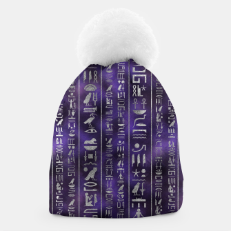 Thumbnail image of Silver Egyptian hieroglyphics pattern Beanie, Live Heroes