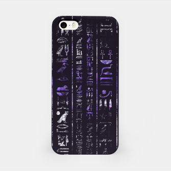 Thumbnail image of Grunge Amethyst and Silver Egyptian hieroglyphics iPhone Case, Live Heroes