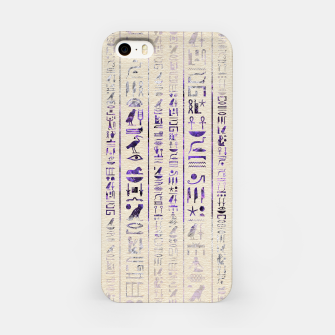 Thumbnail image of Amethyst Egyptian hieroglyphics on canvas iPhone Case, Live Heroes
