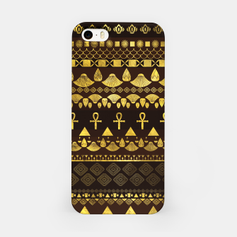 Thumbnail image of Egyptian Ethnic Pattern gold on rich browns iPhone Case, Live Heroes