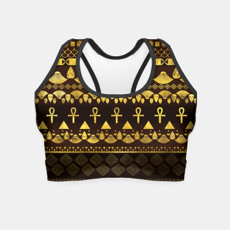 Miniaturka Egyptian Ethnic Pattern gold on rich browns Crop Top, Live Heroes