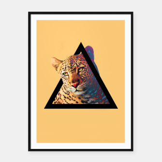 Thumbnail image of Neon Leo Framed poster, Live Heroes