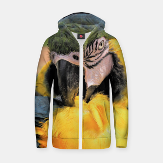 Thumbnail image of Parrot Yellow Ara Cotton zip up hoodie, Live Heroes