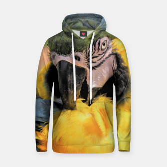 Thumbnail image of Parrot Yellow Ara Cotton hoodie, Live Heroes