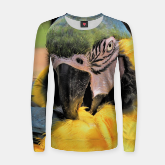 Thumbnail image of Parrot Yellow Ara Woman cotton sweater, Live Heroes