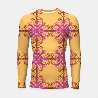 Thumbnail image of LONG sleeve rashguard, mandalas GOLD, Live Heroes