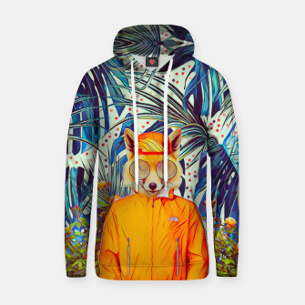 Thumbnail image of Floral foxy Cotton hoodie, Live Heroes