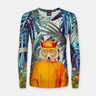 Thumbnail image of Floral foxy Woman cotton sweater, Live Heroes