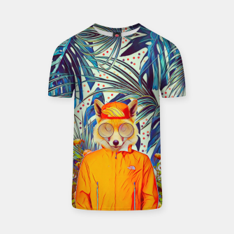 Thumbnail image of Floral foxy T-shirt, Live Heroes