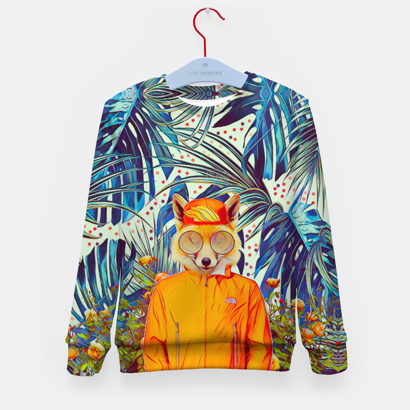 Image of Floral foxy Kid's sweater - Live Heroes
