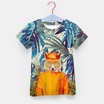 Thumbnail image of Floral foxy Kid's t-shirt, Live Heroes