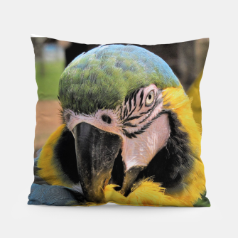 Thumbnail image of Parrot Yellow Ara Pillow, Live Heroes