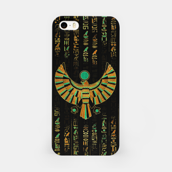 Thumbnail image of Egyptian Horus Falcon gold and color crystal iPhone Case, Live Heroes