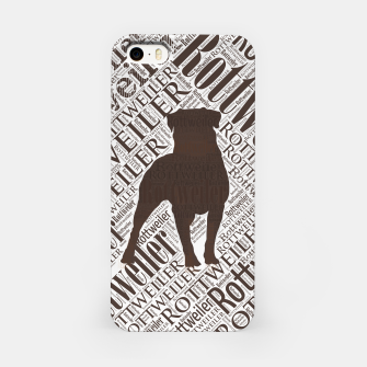 Thumbnail image of Rottweiler Word Art iPhone Case, Live Heroes