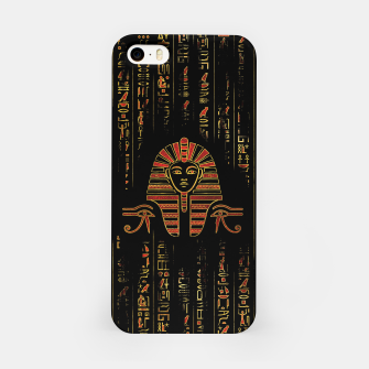 Thumbnail image of Egyptian Sphinx on hieroglyphics red crystal and gold iPhone Case, Live Heroes