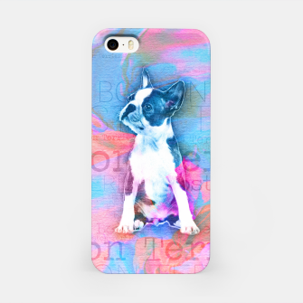 Thumbnail image of Boston Terrier Watercolor Digital Art iPhone Case, Live Heroes