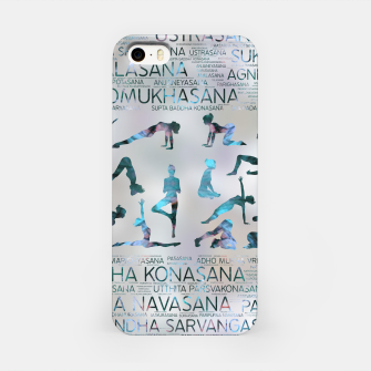 Thumbnail image of Yoga Asanas / Poses Sanskrit Word Art  Labradorite on pearl iPhone Case, Live Heroes