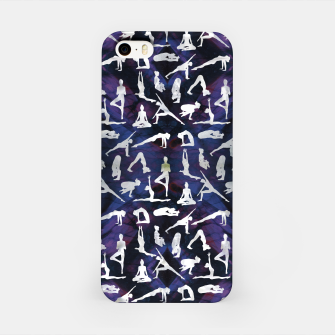 Thumbnail image of Yoga Asanas / Poses  pattern on Amethyst iPhone Case, Live Heroes