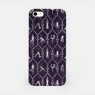 Thumbnail image of Pearl Yoga Asanas pattern on amethyst iPhone Case, Live Heroes