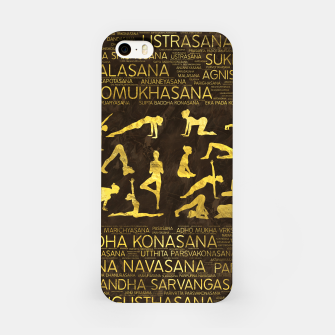 Thumbnail image of Gold Yoga Asanas / Poses Sanskrit Word Art  iPhone Case, Live Heroes