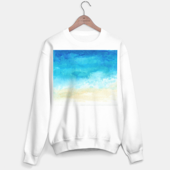 Thumbnail image of Ocean View. Watercolor Sea  landscape. Hand drawn illustration  Sweater regular, Live Heroes