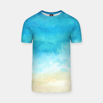 Thumbnail image of Ocean View. Watercolor Sea  landscape. Hand drawn illustration  T-shirt, Live Heroes